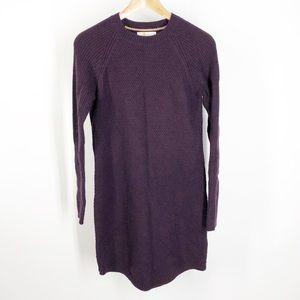 Boden knit wool blend Burgundy Tunic Dress